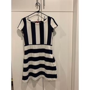 Dresses & Skirts - blue and white striped dress WITH POCKETS!